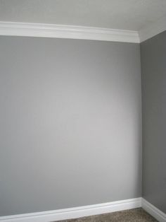 Grey paint and coving