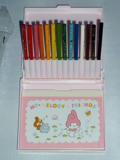 My Melody sketchbook and colored pencil set, $499 | 22 Vintage Sanrio Products That Will Make You Rich
