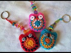 Crochet porte clés Hibou - YouTube