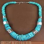 Heishi Turquoise & Silver Necklace