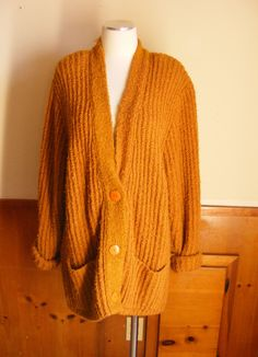 Chunky oversized sweater cardigan coat knitwear jacket- size s m l ...