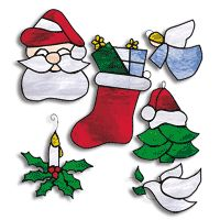 Free Pattern, Christmas Ornaments Stained Glass