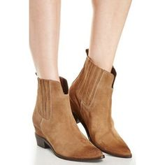 Tan Suede Ankle Booties Worn once, they are in perfect condition! Retail for over $160+. Show Me Your MuMu Shoes Ankle Boots & Booties