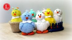 LOOM KNIT Toys on a Round Knitting Loom (Tiny Chicks Project) Loomahat. How to Loom Knit Tiny Chicks Toys on a Circular Loom. You can use any small round loom to complete this project. The level is for advanced beginners. Round Loom Knitting, Loom Knitting Projects, Loom Knitting Patterns, Knitting Videos, Yarn Projects, Knitting For Beginners, Knitting Stitches, Knitting Toys, Knitting Needles