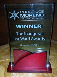 1st Ward Award for Best Restaurant