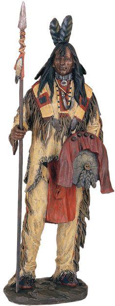 Native American Decorative Items | Native American Warrior Indian Decor Statue Figurine | eBay