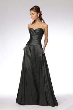 taffeta charcoal dress