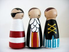 Pirate peg dolls by little papoose, mooshoo