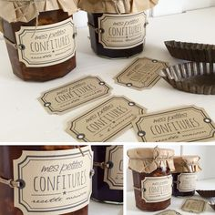 Love the packaging Diy Cosmetics Labels, Cosmetic Labels, Honey Packaging, Food Packaging, Packaging Design, Food Gifts, Label Design, Mason Jars, Bakery
