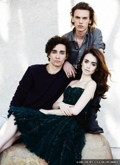 Robert Sheehan, Lily Collins and Jamie Campbell Bower - a photo shoot by John Russo for the UK magazine LIVE