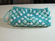 I made this crochet wristlet in different colors.