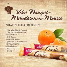 Hier unsere Zutaten für das leckere Viba Nougat-Mandarinen-Mousse.