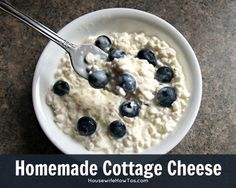 How To Make Homemade Cottage Cheese #recipe #cooking