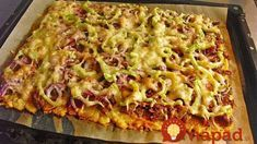 potatocake- Kartoffelkuchen Potato cake with dumpling dough -> mix with nutmeg before spreading on the plate – possibly prebake … - Healthy Soup Recipes, Cooking Recipes, Potato Recipes, Dumpling Dough, Quick And Easy Soup, Cheese Appetizers, Potato Cakes, Health Eating, Casserole Recipes