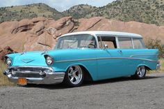 57 Chevy Wagon..Re-pin brought to you by agents of #Carinsurance at #HouseofInsurance in Eugene, Oregon