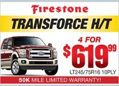 Firestone Transforce H/T - 4 for $619.99