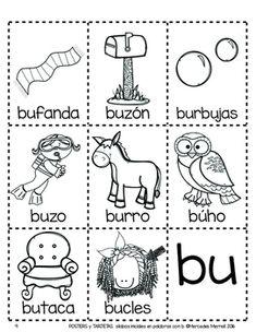 POSTERS y TARJETAS de sílabas iniciales en palabras con a