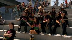 """S2E1 - Audition:  The New Directions failed attempt to recruit new members for glee club. Performing """"Empire State of Mind""""."""