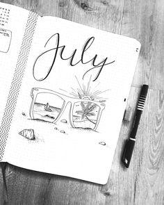 July and summer are finally here ♀️ who has a similar theme? #bulletjournal #bujo #bujolove #bulletjournaling #bulletjournalcommunity…