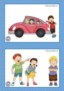 32 dagritmekaarten voor kleuters, juf Petra kleuteridee / Preschool schedule cards, excursie en Sova