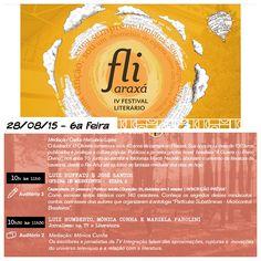 Mudou a data: estou te esperando no FLIARAXA, dia 28/08 às 10:30!