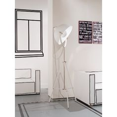 It's about RoMi Hollywood Vloerlamp 183 cm - Wit - Its about Rom