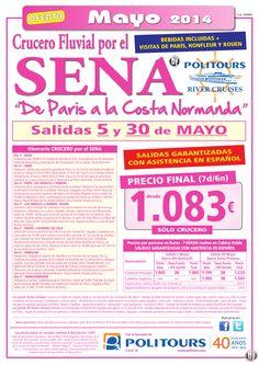 """Crucero por el SENA """"De París a la Costa Normanda"""", sal. 5 y 30/05 (7d/6n) dsd 1.083€ -Solo Crucero- ultimo minuto - http://zocotours.com/crucero-por-el-sena-de-paris-a-la-costa-normanda-sal-5-y-3005-7d6n-dsd-1-083e-solo-crucero-ultimo-minuto-20/"""