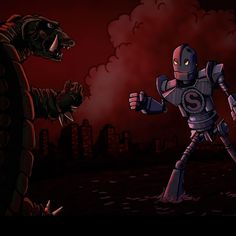 The Iron Giant vs Gamera by jbutt42 @ Instagram