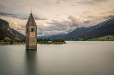 Lago di Resia, in Trentino-Alto Adige www.italianways.com/eight-alpine-lakes-eight-wonders-to-see/