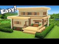 Minecraft: Easy Starter House Tutorial – How to Build a House in Minecraft ( 2018 - Minecraft World 2020 Minecraft World, Modern Minecraft Houses, Minecraft Garden, Minecraft Houses Survival, Minecraft House Tutorials, Minecraft Plans, Minecraft House Designs, Minecraft Architecture, Minecraft Blueprints