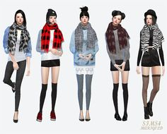 "sims4-marigold: "" • fringe muffler(female) my blog_download """
