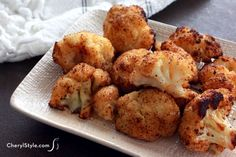 Spicy roasted cauliflower with ancho chili powder! - CherylStyle