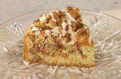 gluten free Sour Cream Coffee Cake.  This is super good.  We left out the nuts and baked in a bundt pan