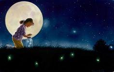 Catching fireflies/lightning bugs.