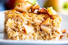Cinnamon Apple Baked Oatmeal is an easy and delicious make ahead breakfast for the fall and winter months. THM E, low fat and super yum! Thm Recipes, Brunch Recipes, Breakfast Recipes, Cooking Recipes, Healthy Recipes, Apple Recipes, Drink Recipes, Breakfast Ideas, Healthy Eats
