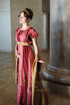 Evening Formal Regency Jane Austen Ball Gown Dress, love the colors and cut.