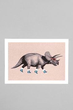 Chase Kuntz For Society6 Triceratops Print