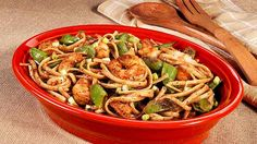 A light and spicy noodle salad, great for a late summer meal.