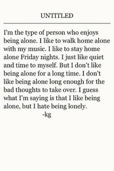 I'm the type of person..