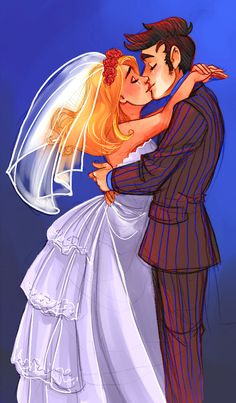 "rumpelstiltskinned: "" I finally coloured my Ten/Rose sketch! Original sketch can be found here. """