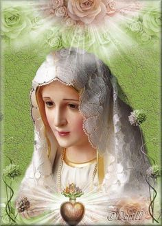 Our Lady of Fatima Jesus And Mary Pictures, Images Of Mary, Catholic Religion, Catholic Art, Blessed Mother Mary, Blessed Virgin Mary, Religious Images, Religious Art, Hail Holy Queen