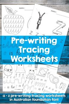 A-Z lower case pre-writing tracing worksheets - Teachers pay teachers #educatino #toddler #kindergarten