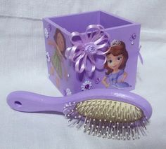 Princess Sofia box and hairbrush wooden by MagicalIIDecorations