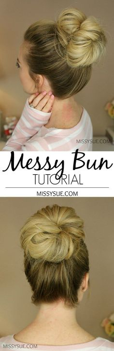 By far my most requested tutorial, today I am featuring how I create my messy buns! There are three different buns in today's video with two signature styles and a third one that didn't have a video but is still super cute. The first bun is the one from the Triple French Braid Double Waterfall tutorial way back when. The second bun is the one I wear the most and show frequently in tutorials. Hopefully a better (slower!) break down of how each one is done ...