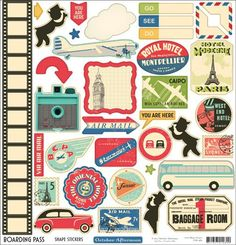 """Love the idea of finding maps from our travel stuff (or from books) and using """"You are here"""" stickers to show where the photos on that page were taken..."""