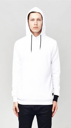NONSENSE HOODED SWEATER WHITE I Love Ugly, Classic Man, Hooded Sweater, Men Looks, White Sweaters, Hoods, Street Wear, Menswear, Pullover