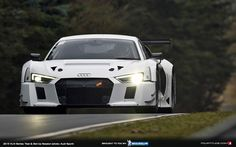 Only eleven days after its world debut, the new Audi R8 LMS thrilled a trackside audience for the first time. In the VLN Test and Set-up Session on the Nür