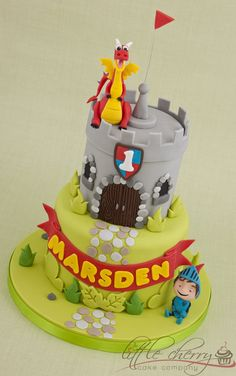 Mike the Knight Castle Cake by littlecherry