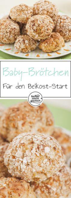 Einfaches Rezept für Kinderbrot und Kinderbrötchen, die voller gesunder Zutaten stecken! Die Knabberbrötchen sind eine perfekte Knabberei für Zwischendurch sowie eine leckere Grundlage zum Frühstück oder Abendessen fürs Baby Lead Weaning