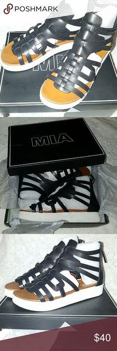 54c122c4b8c New MIA Shoes black gladiator sandals Brand new in box. Black gladiator  sandals with a